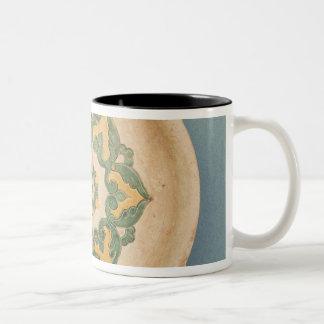 Plato de ofrecimiento chino tazas de café