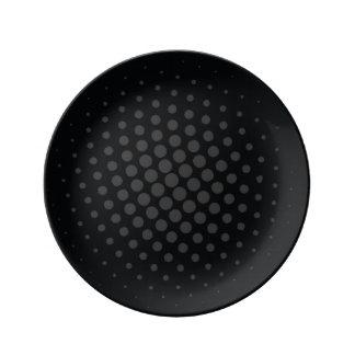 Plato Decorativo Black Dots Platos De Cerámica