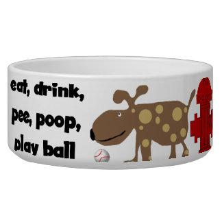 Plato del mascota del humor de la vida del perro tazones para perro