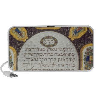 Plato del Passover de Fayeme, por Isaac Cohen de P Laptop Altavoz