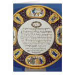 Plato del Passover de Fayeme, por Isaac Cohen de P Felicitacion