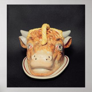 Plato del queso de Staffordshire en forma de una v Póster