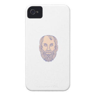 Plato Greek Philosopher Head Mono Line Case-Mate iPhone 4 Case