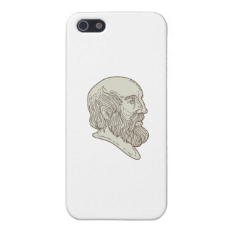 Plato Greek Philosopher Head Mono Line Cover For iPhone SE/5/5s