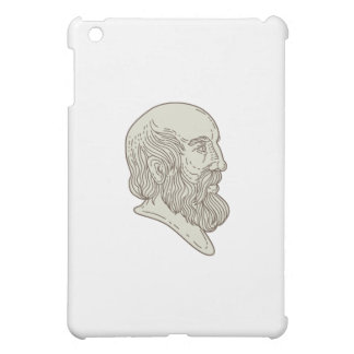 Plato Greek Philosopher Head Mono Line iPad Mini Cases