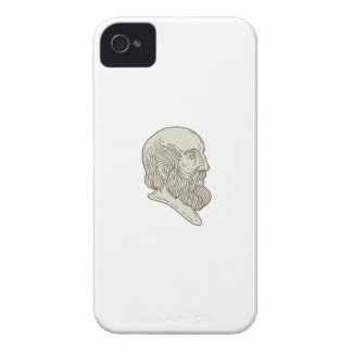 Plato Greek Philosopher Head Mono Line iPhone 4 Cover