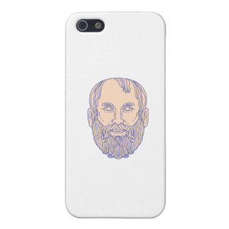 Plato Greek Philosopher Head Mono Line iPhone SE/5/5s Case