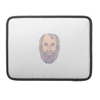 Plato Greek Philosopher Head Mono Line MacBook Pro Sleeve