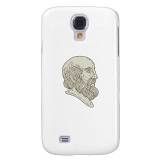 Plato Greek Philosopher Head Mono Line Samsung S4 Case