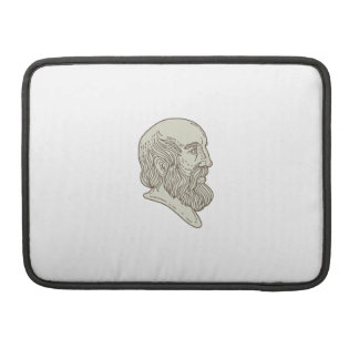 Plato Greek Philosopher Head Mono Line Sleeve For MacBooks