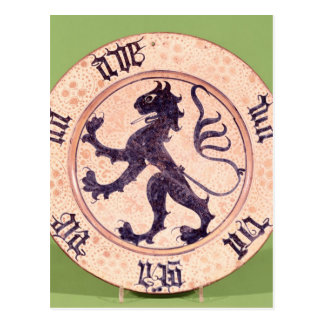 Plato Hispano-Moresque, lata-esmaltado Postal