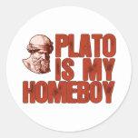 Plato Is My Homeboy Classic Round Sticker