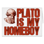 Plato Is My Homeboy Greeting Card