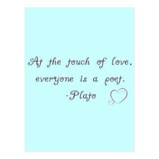 Plato Love Poet Quote Postcard