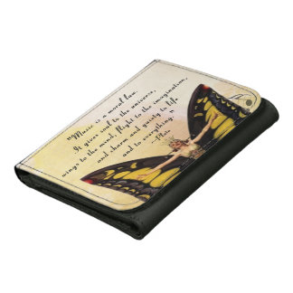 Plato on Music Trifold Wallet
