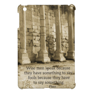 Plato philosophy quote about fools and wisdom iPad mini cover