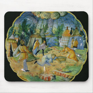 Plato que representa la reunión del maná tapete de ratón