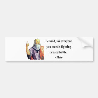 Plato Quote 1b Bumper Sticker