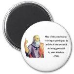 Plato Quote 2b Fridge Magnet