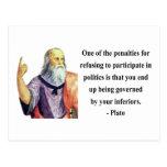 Plato Quote 2b Post Card