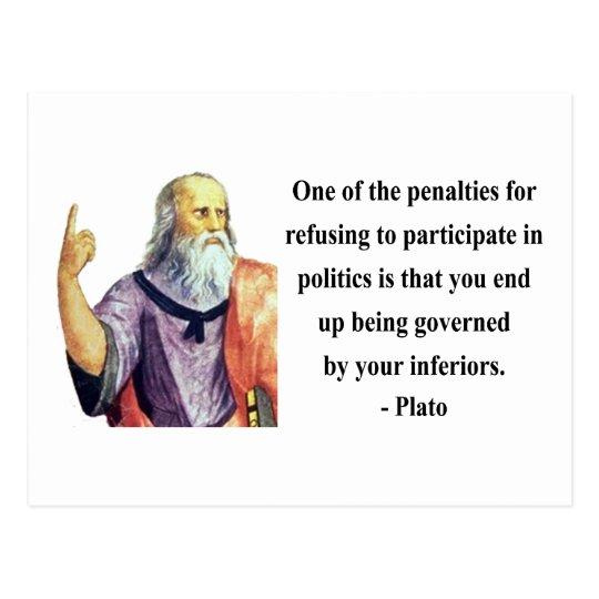 Plato Quote 2b Postcard