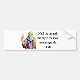 Plato Quote 4b Bumper Sticker
