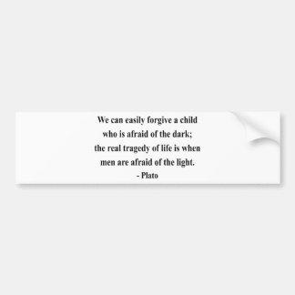 Plato Quote 5a Bumper Sticker