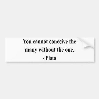 Plato Quote 6a Bumper Sticker