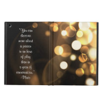 Plato quote about play iPad air case