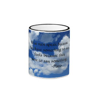 Plato Quote For Taciturn People Ringer Mug