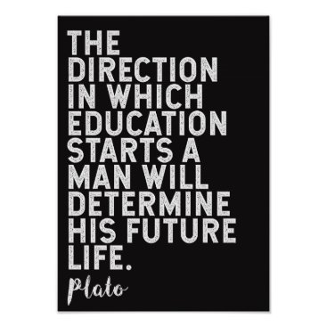 Art Themed Plato Quote on Education Poster