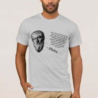 Plato Quote 'Refrain from judgement' T-Shirt