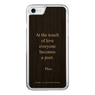 Plato Quote; The Touch Of Love Carved iPhone 8/7 Case