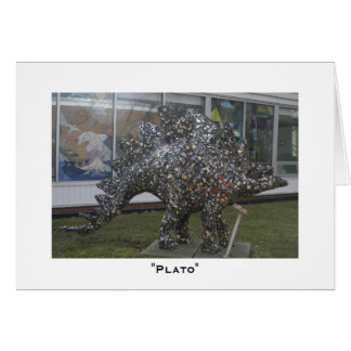 Plato the Dinosaur Card