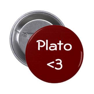 Platón <3 pin redondo 5 cm