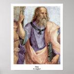 Platón de Raffael Posters