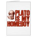 Platón es mi Homeboy Tarjeta