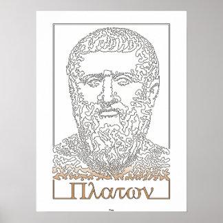 Platón. Filósofo griego [014] Póster