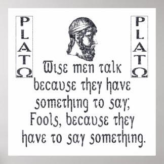 Platón Poster