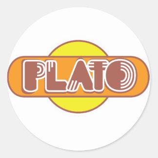 Platón Pegatina Redonda