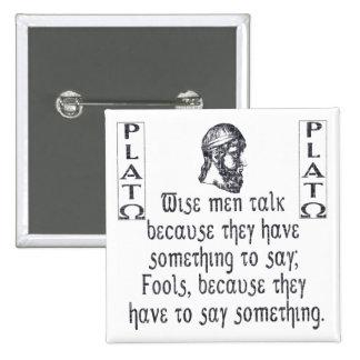 Platón Pin Cuadrado