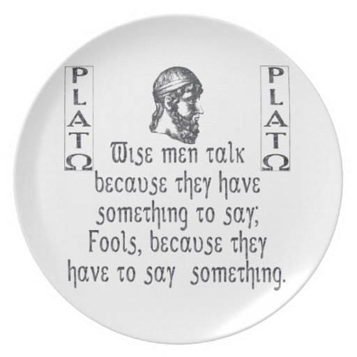 Platón Plato De Cena