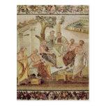 Platón que conversa con sus alumnos tarjetas postales