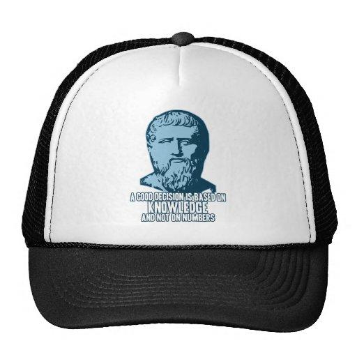 Platón: Una buena decisión se basa en conocimiento Gorro De Camionero
