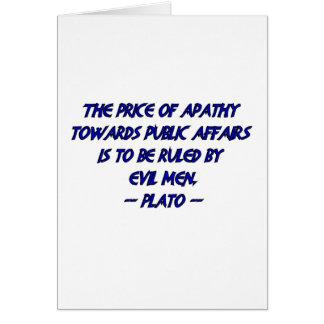 Platón y hombres malvados tarjeta de felicitación