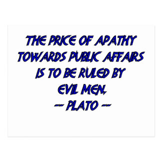 Platón y hombres malvados tarjetas postales