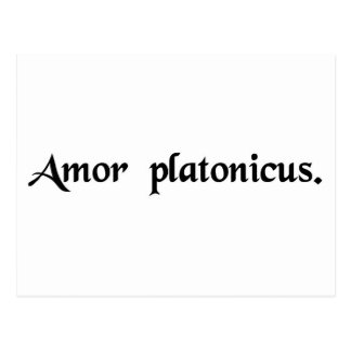 Platonic love postcard