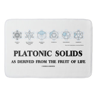 Platonic Solids As Derived From The Fruit Of Life Bathroom Mat