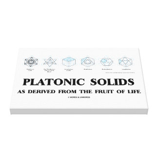 Platonic Solids As Derived From The Fruit Of Life Canvas Print
