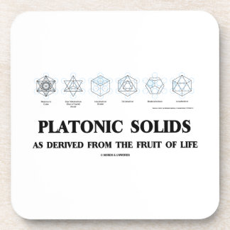 Platonic Solids As Derived From The Fruit Of Life Drink Coaster